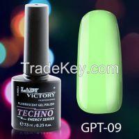 Lady Victory High Quality Gel Nail Polish Fluorescent GPT 7,3 ml