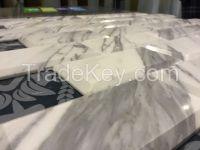 Venato Carrara Bevelled Brick Mosaic Tile