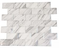Carrara Venato Marble Subway Floor & Wall Tile