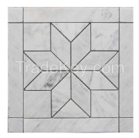 Venato Carrara Tile with Flower Pattern