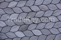 Grey Wood Leaf mosaic, tile