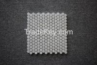 Carrara White 3/4 inch Penny Round Mosaic Tile Polished -