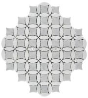 Carrara White and Sivec White Mosaic