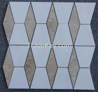 Sivec White and Light Emperador Mosaic