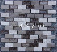 Silver Wood and Striation Elegant Mosaic