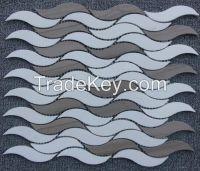 Sivec White and Striation Elegant Mosaic