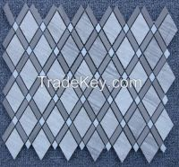 Silver Wood Striation Elegant Mosaic