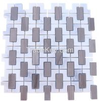 Asian Statuary Marble Tile (Trellis, Athens & Grey)