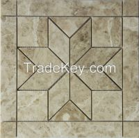 Turkish light brown flower shape tile mosaic