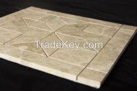 Turkish light brown flower shape tile mosaic