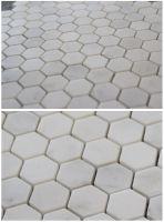 Carrara White Mosaic Tile; hexagon polished