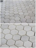 Carrara White MosaicTile White marble mosaic; hexagon polished