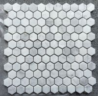 Carrara White Mosaic Tile; hexagon polished