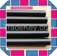3k carbon fiber tubes with different size,3k plain weave carbon tubes,glossy carbon tubes