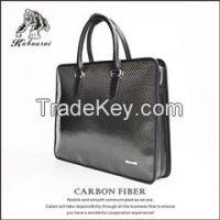 High-grade carbon fiber TPU men's bag briefcase file bag briefcases for man