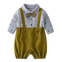 High Quality Newborn Jumpsuits Baby Boy Long Sleeve Cotton Infant Baby Rompers