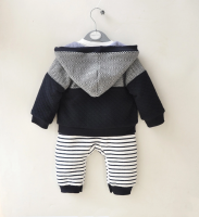 wholesale thick autumn winter toddler infant romper with hood store newborn baby boys clothes rompers set