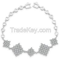 Hot Sale Exquisite Diamond Rhombus Shape Chain Bracelet