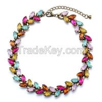 Candy Color Crystal Beade Necklace Jewelry