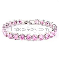 Korean Fashion Crystal Beaded Bracelet For Ladies