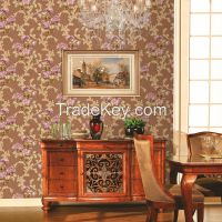 PVC deep embossed wallpaper