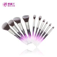 10 pcs transparent handle Make-up brush sets