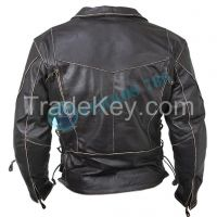 CLASSIC VINTAGE DISTRESSED BRANDO MEN'S BIKER COW LEATHER JACKET