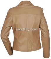 CLASSIC VINTAGE WOMEN'S BIKER LEATHER JACKET