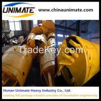 Unimate drilling rig use drill rock bucket double cut clay drilling bucket