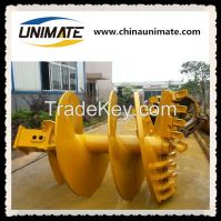 Rotary drilling rig foundation construction use drilling rig rock conical auger drilling rock auger drill CFA auger