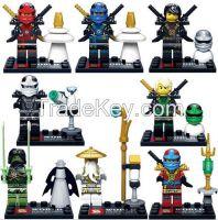 New Coming 6pcs/lot Japanese Ninjago building blocks ninja figure Bric