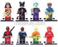 16pcs/lot DC minifigures movie Super Hero Avenger kids Toy Mini Figure