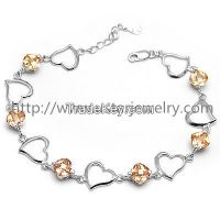 Fashion European Style Love Charm Silver Bracelet