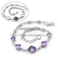 fashion jewelry silver bracelet, love style charm bracelet