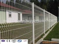 3D Welded Fence// Triangle Bends Fencing//PVC coated Triangle Protection Fence