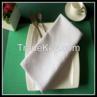 High quality 100% MJS spun polyester table napkin cotton feel plain style many color available