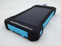 waterproof Solar power bank with high power lantern duel ports with compass
