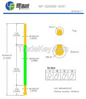 NP-020550-DV01 high current test probes and BGA;PCB and ICT test needle with sharp and wire harness