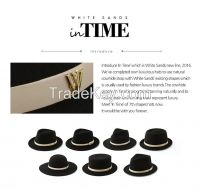 In Time White Sands Wool Felt Fedora Hat with Cowhide Strap