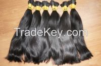 Vietnamese best wholesale price for 100% natural straight bulk hair 10- 30 inches with highest quality