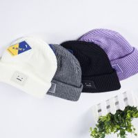 Custom Slouchy Winter Knitted Beanie Hat For Men Women
