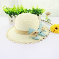 Fashion Handmade Promotional Hollow Straw Hat With Flower Wholesale