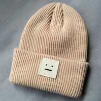 Custom Slouchy Winter Knitted Beanie Hat For Men Women