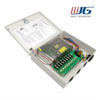 120W Centralized switching power supply box for cctv 9 channels