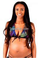 Nursing & Beyond Electric Jungle Push-Up Bikini Top