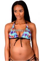 Push Up Multi-color Hologram Nursing Bikini Top