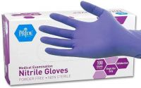 Nitrile Gloves / Protective Civilian Gloves / White and sky Blue Nitrile disposable Gloves