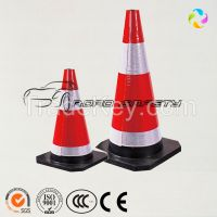 Colored Traffic Road Safety Rubber Cone of crossroad