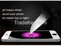 9H hardness 2.5D round edge silicone covered edge tempered glass screen protector for iphone 6