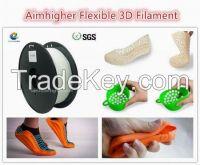 Flexible filament 1.75/3.0m for FDM desktop printer factory price